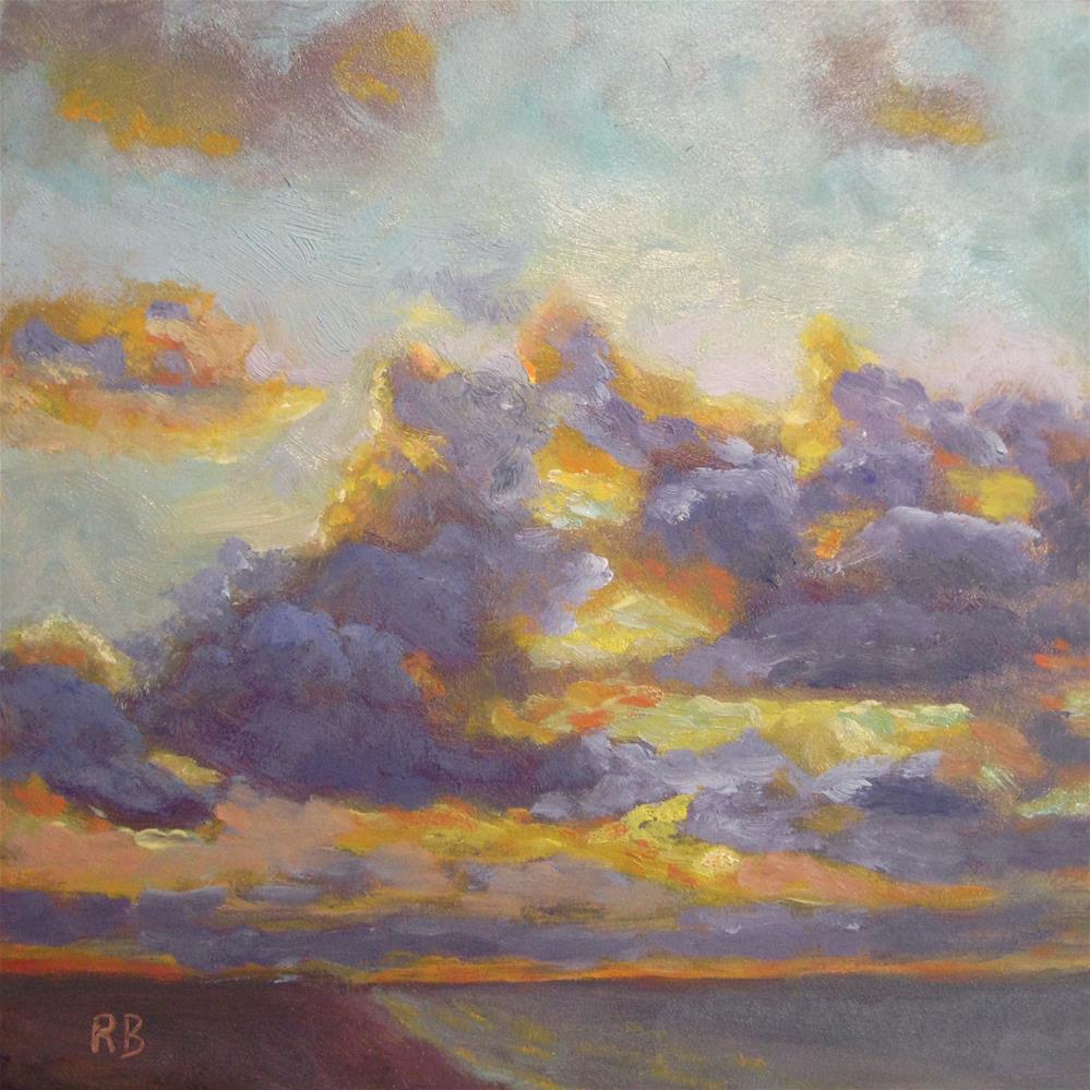 """Cielo - Clouds at Sea"" original fine art by Robie Benve"