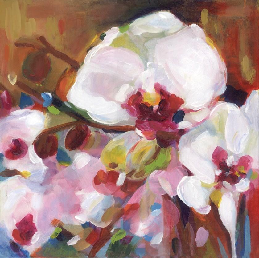 """Orchid Abstract"" original fine art by Pamela Gatens"