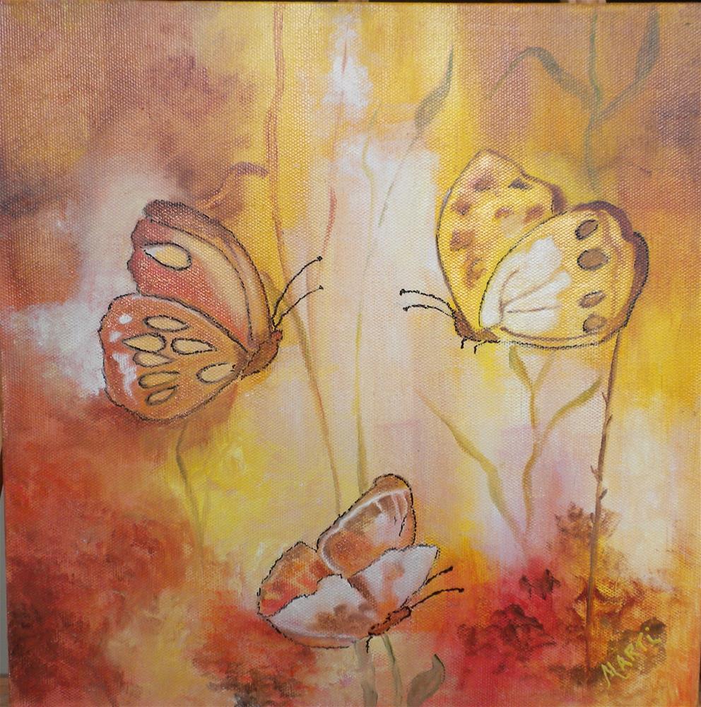"""Butterflies in Sunlight"" original fine art by Marti Idlet"