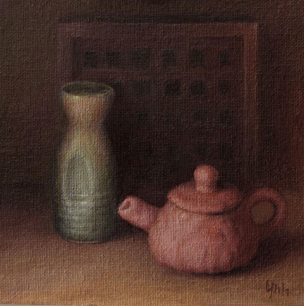 """""""Clay pot"""" original fine art by Yuehua He"""