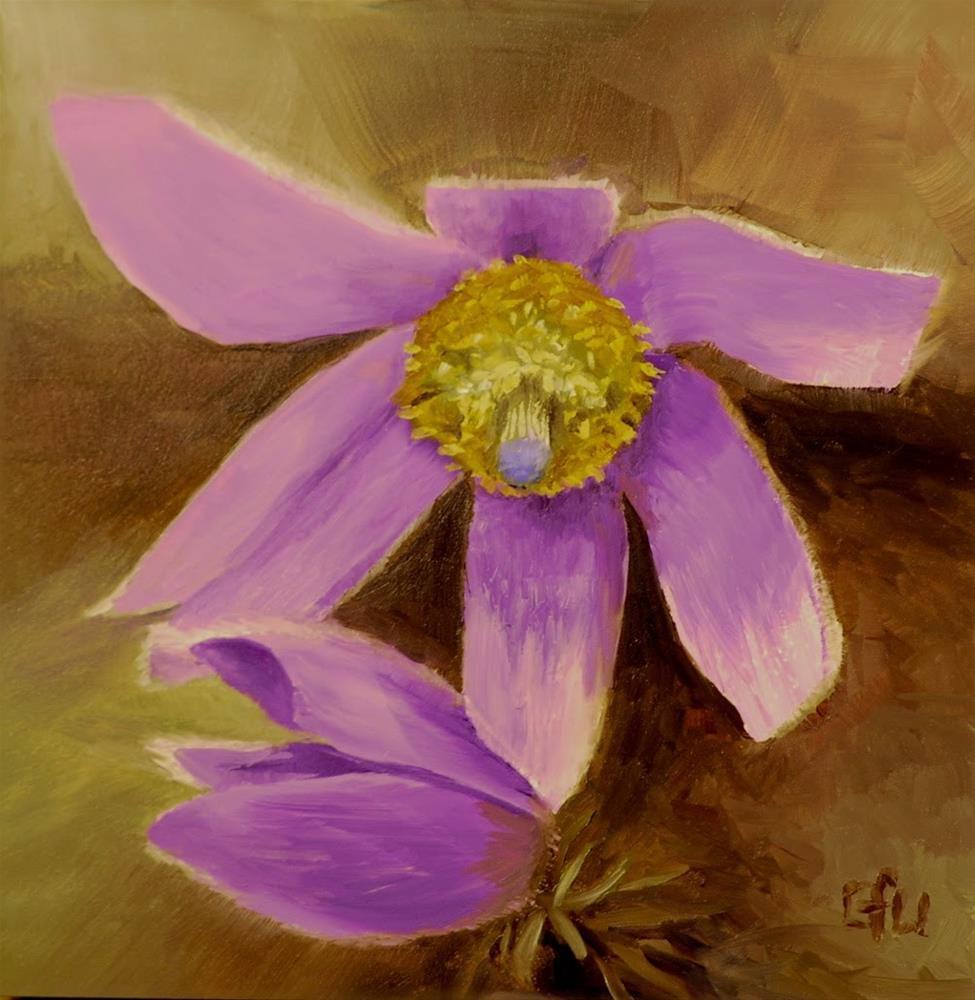 """Pasque Flowers"" original fine art by Gary Westlake"
