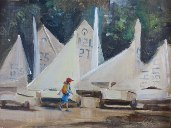 """Plein Air Easton!"" original fine art by Beth Bathe"