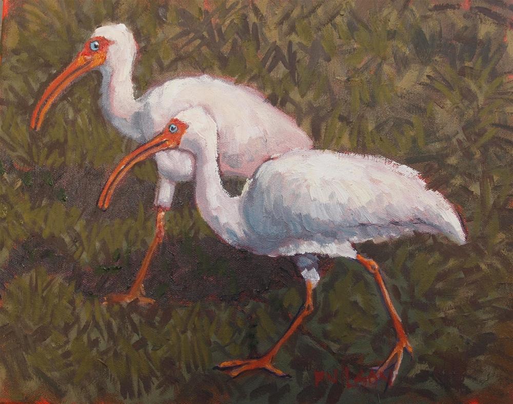"""Ibis it is"" original fine art by Rick Nilson"
