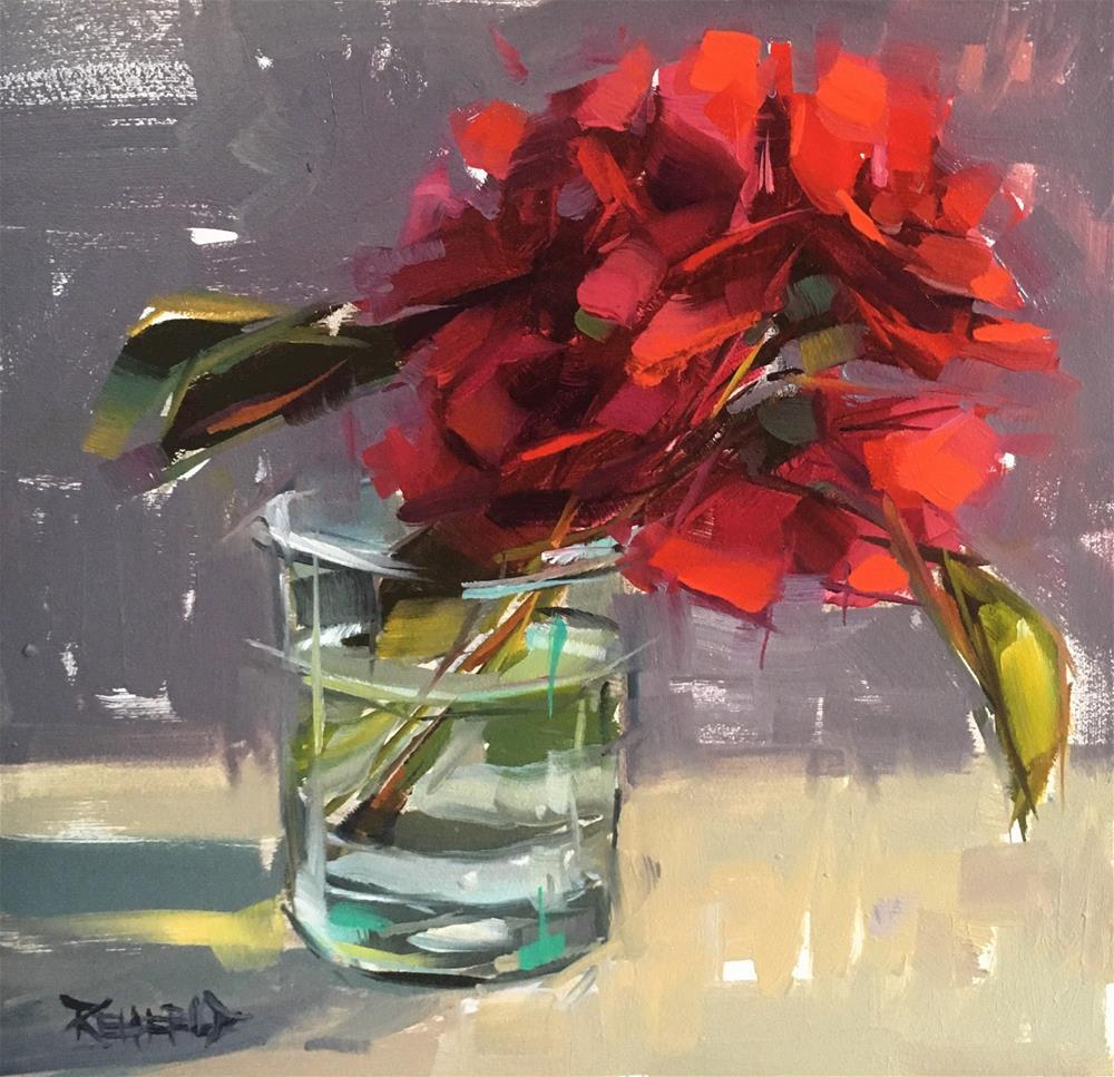 """Joyful Roses"" original fine art by Cathleen Rehfeld"