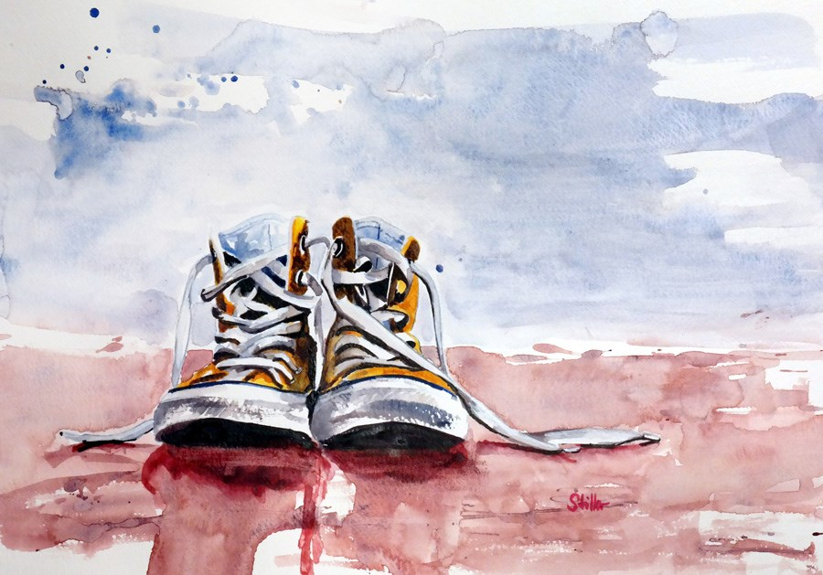 """2331 Chuck Shoes"" original fine art by Dietmar Stiller"