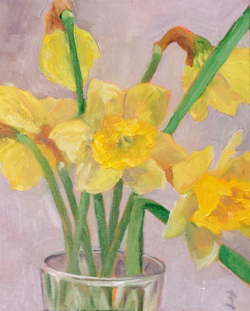"""Spring's Here"" original fine art by Judith Fletcher"