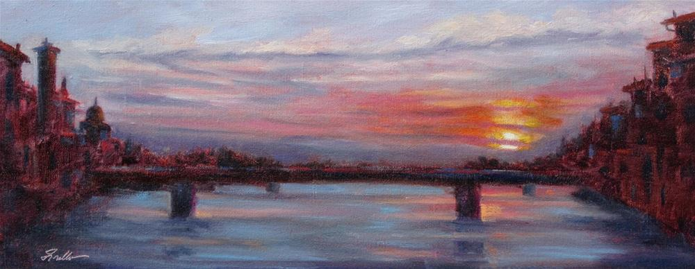 """""""Firenze Sunset"""" original fine art by Pat Fiorello"""