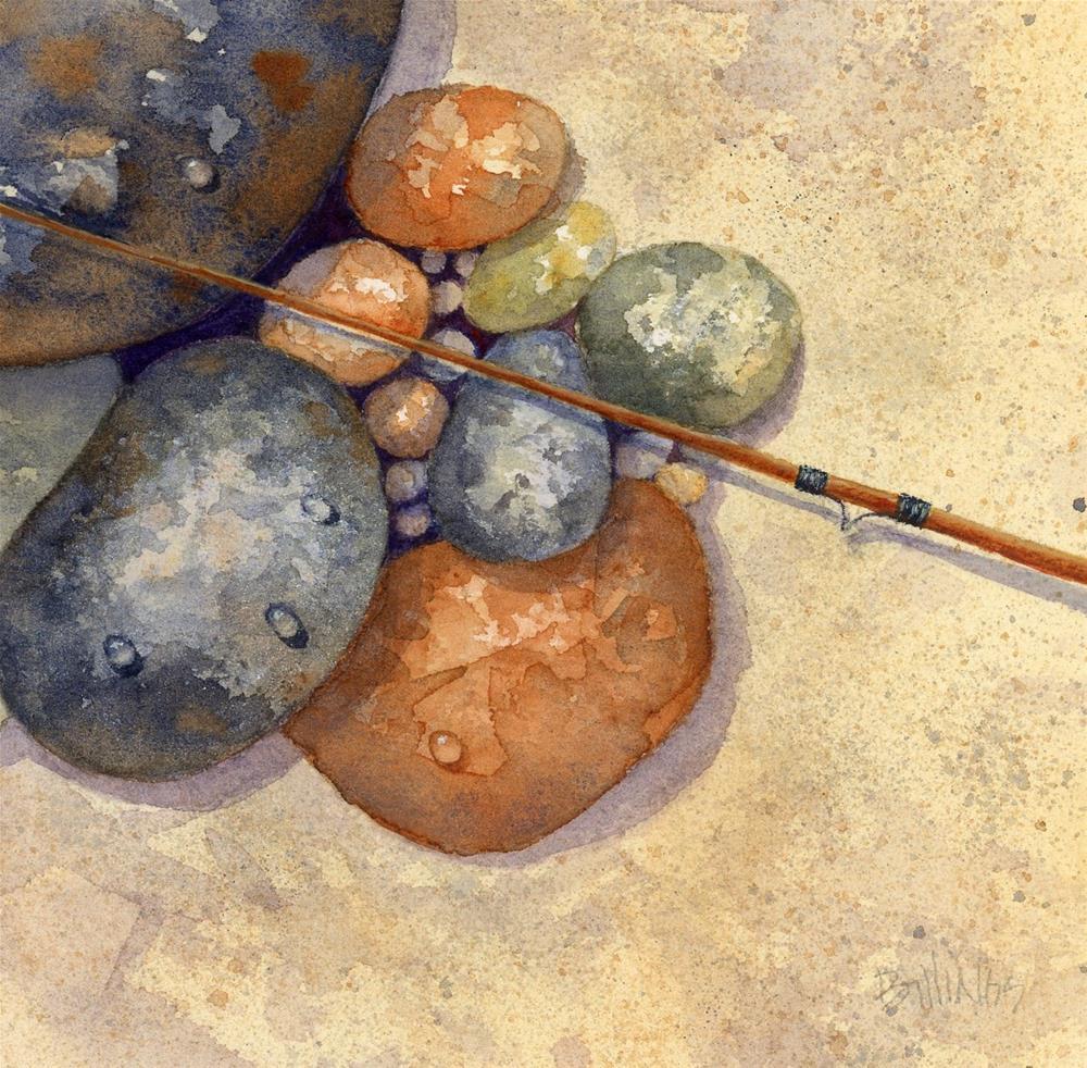 """""""Going for Trout III"""" original fine art by Susanne Billings"""