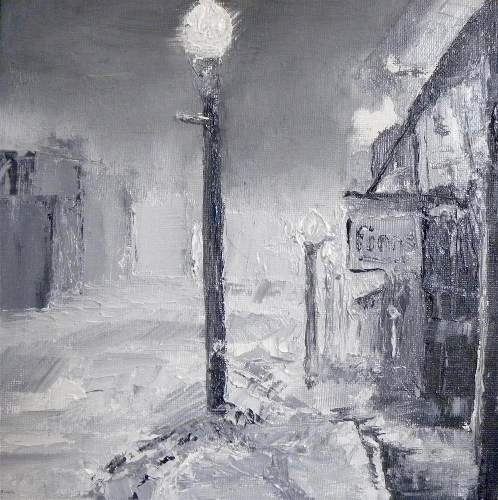 """Snow in the City"" original fine art by cheryl buhrman"