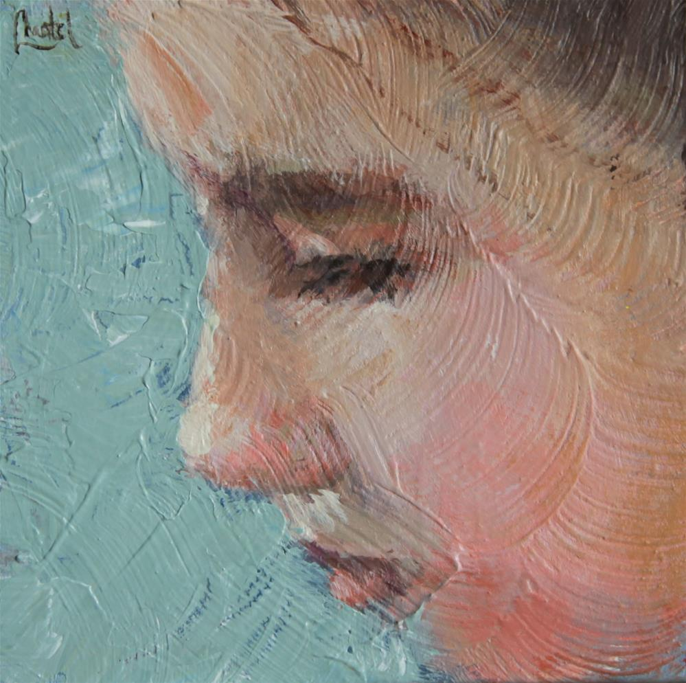 """Blue"" original fine art by Chantel Barber"