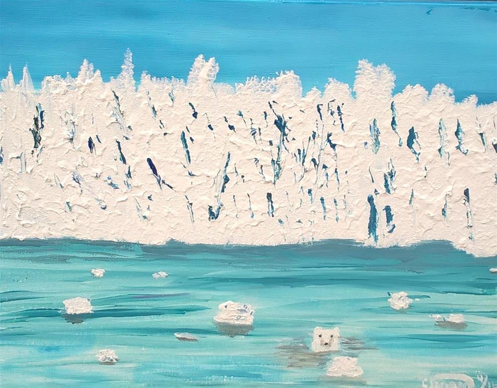 """""""Glasier"""" original fine art by Cindy Jensen"""