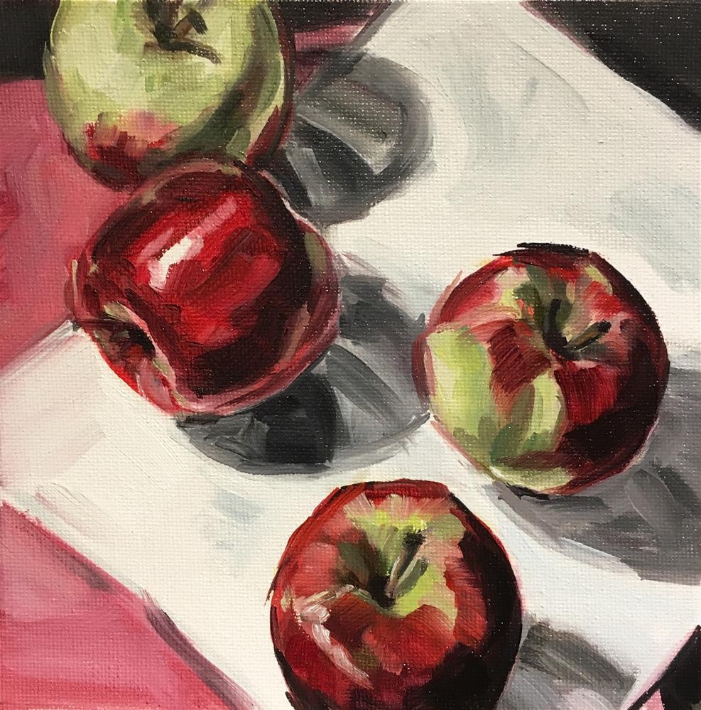 """""""Four square - Apple Study"""" original fine art by Tamanda Elia"""