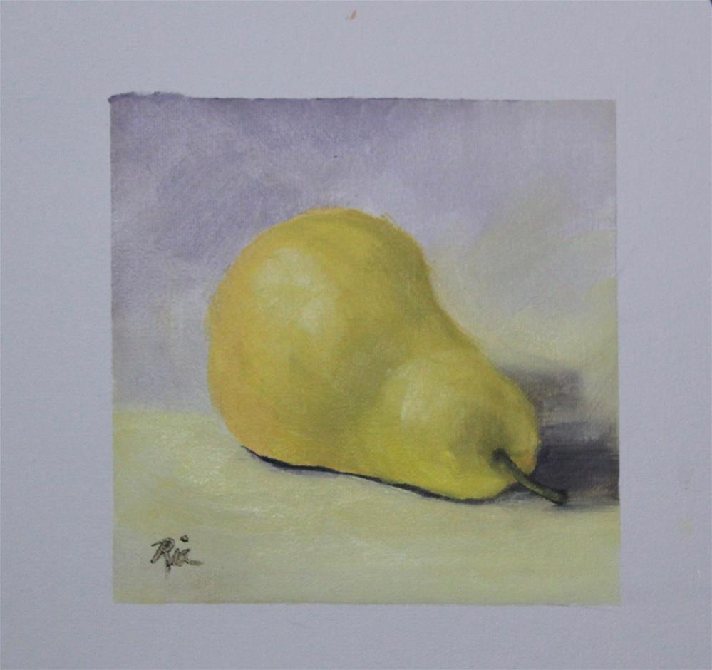 """Pear Down"" original fine art by Maria Reed"