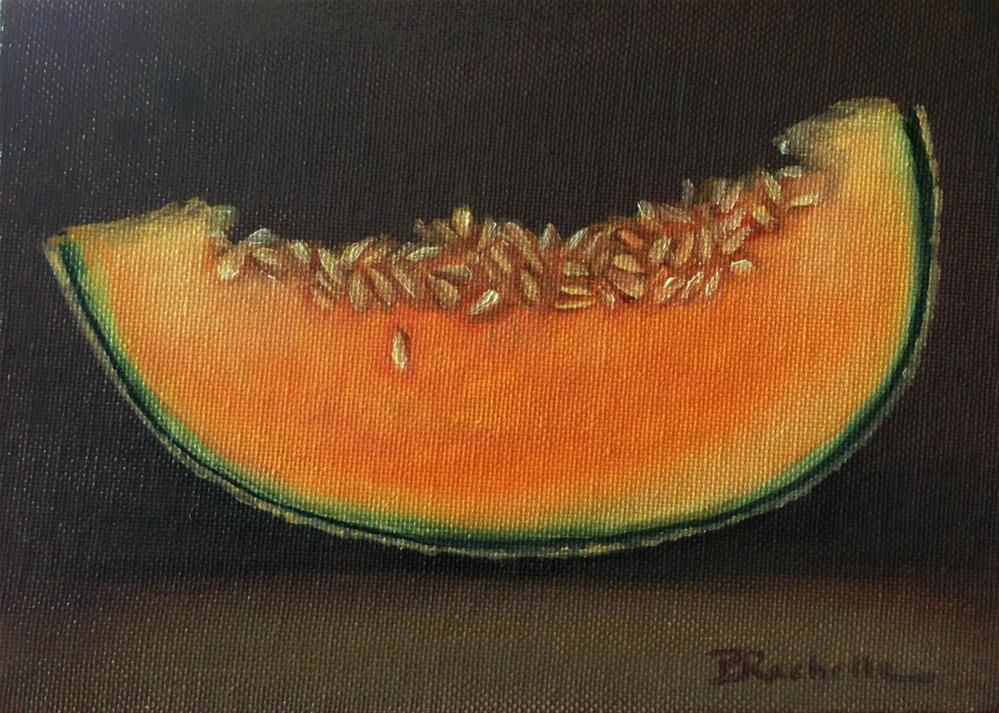 """First Melon"" original fine art by Beth Moreau"