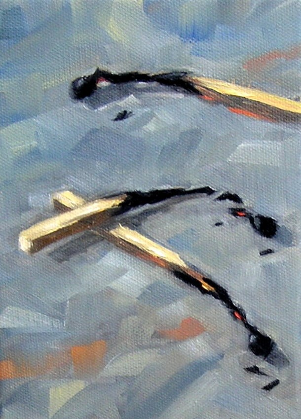 """Matches"" original fine art by Irina Beskina"
