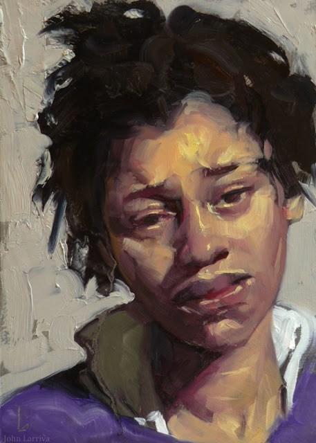 """Grief"" original fine art by John Larriva"