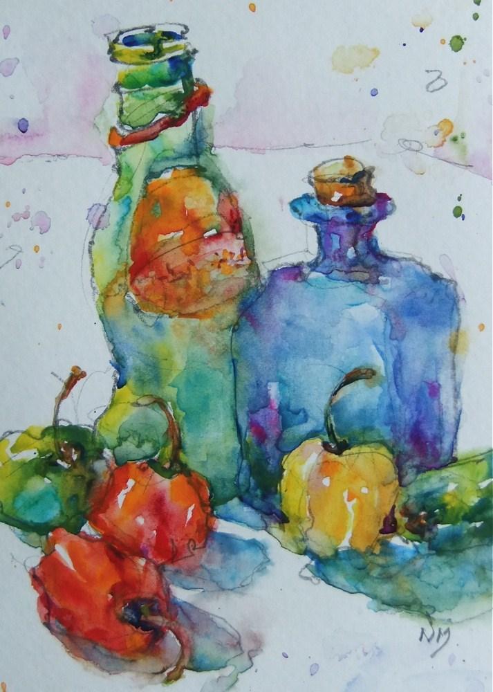 """hot diggity"" original fine art by Nora MacPhail"
