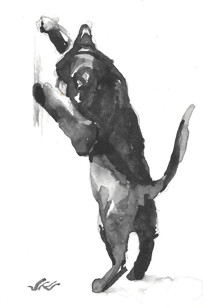 """Daily Cat 193"" original fine art by Jean Krueger"