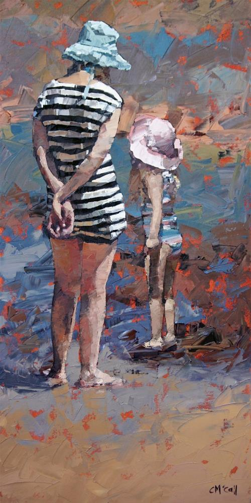 """Mother And Daughter III"" original fine art by Claire McCall"