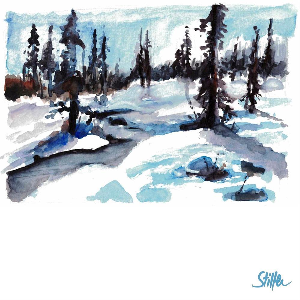 """3400 Winterwonderland"" original fine art by Dietmar Stiller"