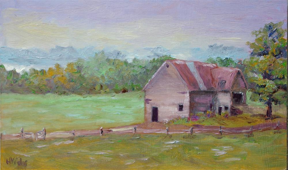 """""""Rt. 21 Barn Ghent"""" original fine art by Helen Viebrock Hamel"""