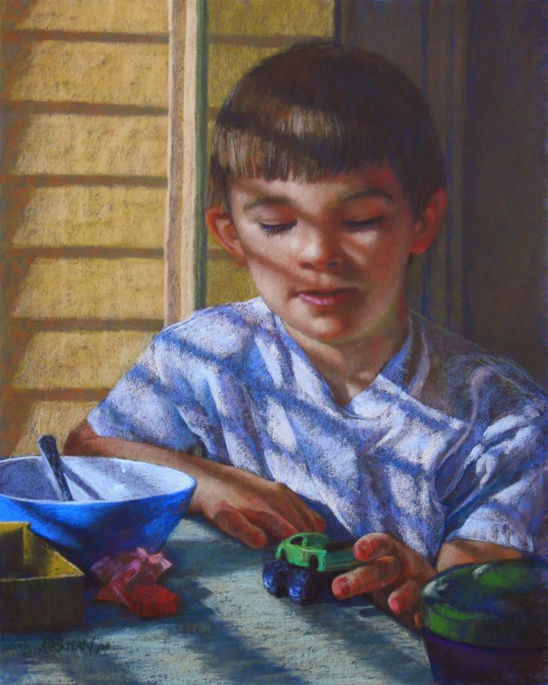 """Ian at Breakfast - in Strokes of Genius Book!"" original fine art by Rita Kirkman"
