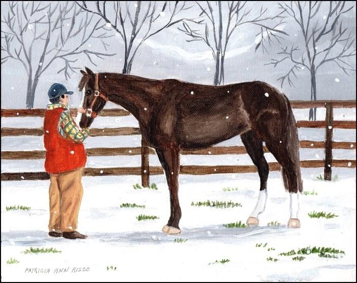 """""""Old Friends"""" original fine art by Patricia Ann Rizzo"""