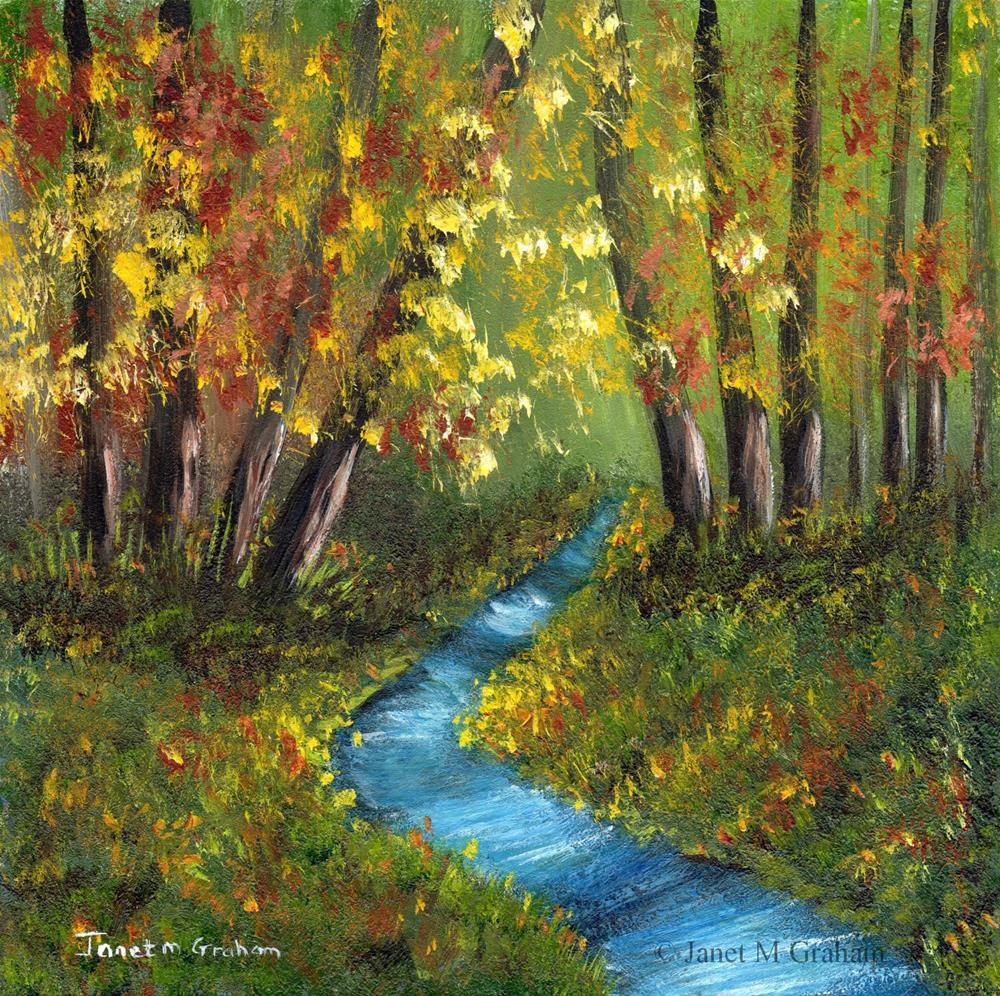 """Autumn River"" original fine art by Janet Graham"