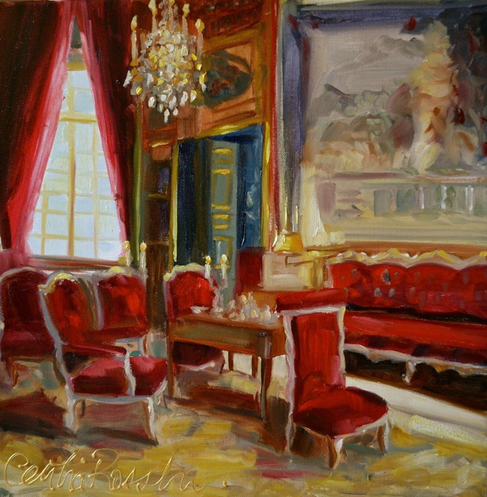 """""""The Red Room"""" original fine art by Cecilia Rosslee"""