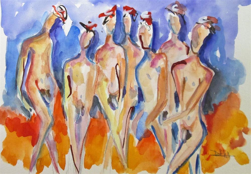 """""""Nudes No. 2"""" original fine art by Delilah Smith"""
