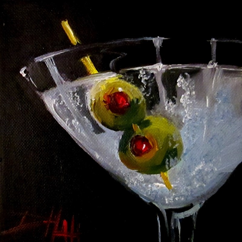 """Martini"" original fine art by Delilah Smith"