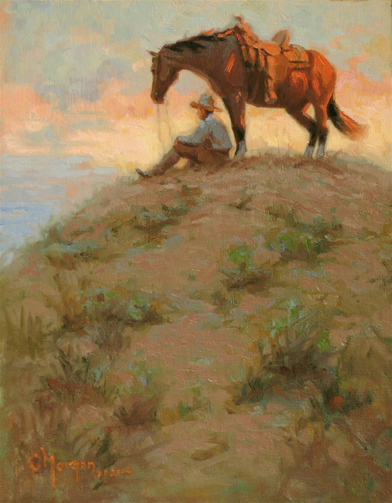 """Wrangler Memories #17"" original fine art by Cecile W. Morgan"
