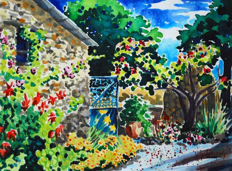 """Hidden Borie"" original fine art by Virginia Fergus"