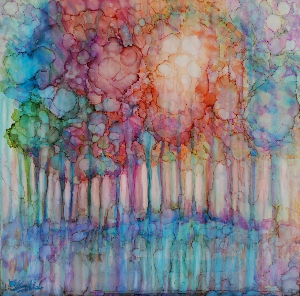 """liquid sunshine"" original fine art by Vicki Wood"