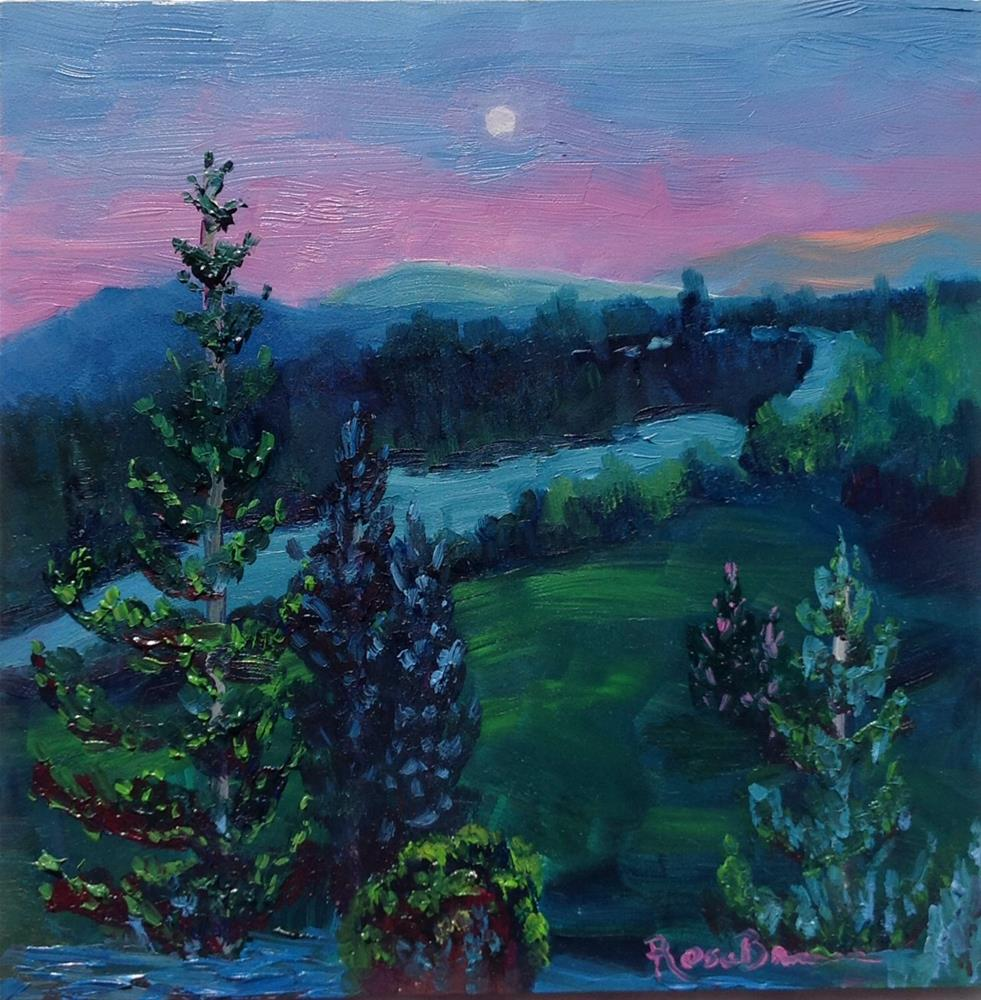 """""""The Pines At Night"""" original fine art by Rose Brenner"""