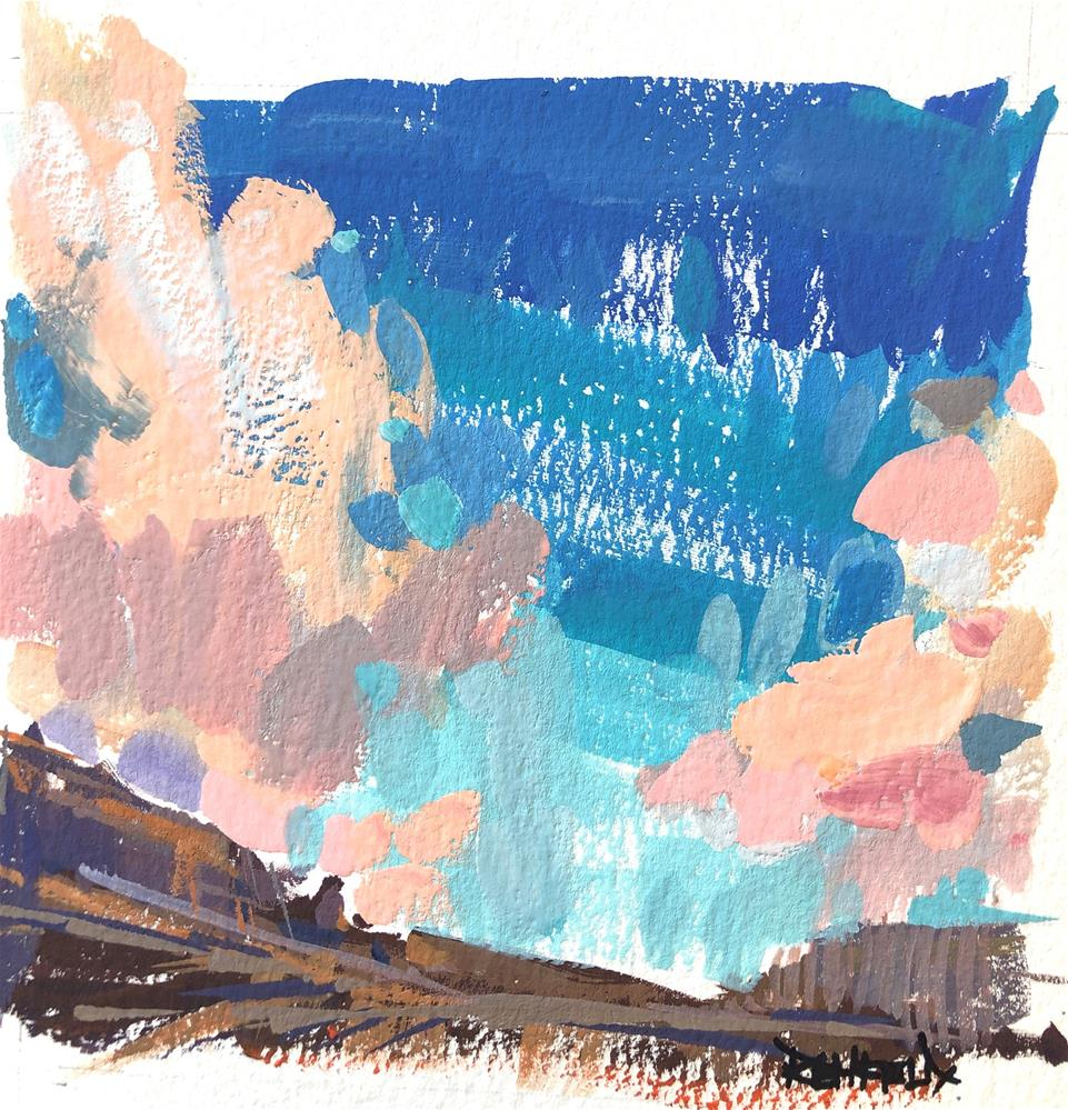 """Desert Skies - Gouache painting"" original fine art by Cathleen Rehfeld"