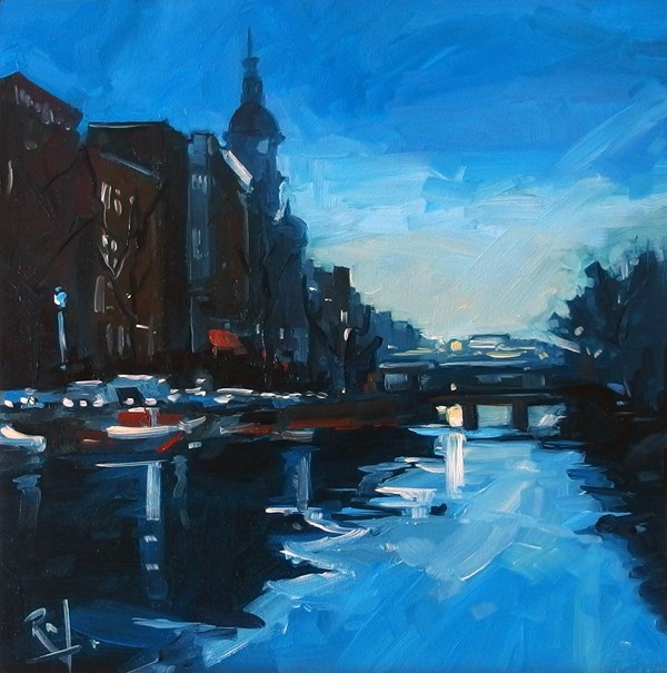 """No 699 Morning Light"" original fine art by Robin J Mitchell"