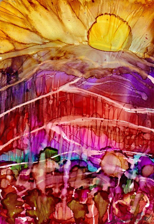 """Landscape 12"" original fine art by Kristen Dukat"