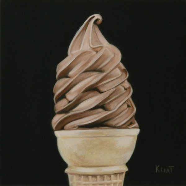 """Chocolate Ice Cream Cone"" original fine art by Kim Testone"