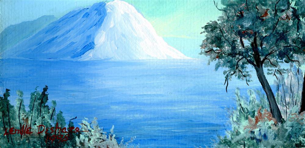"""""""Mountain Lake"""" original fine art by Lendel Holmes"""