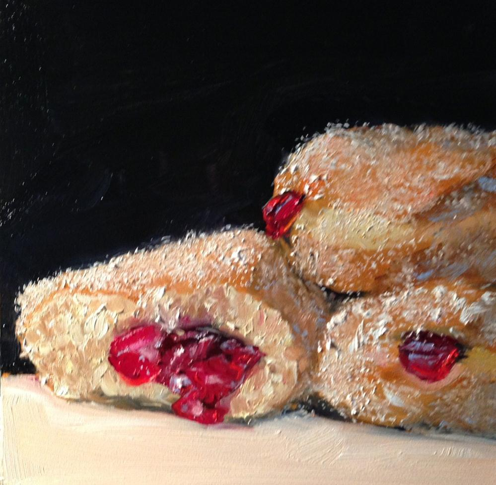 """Just One Bite, 6x6 Inch Oil Painting by Kelley MacDonald"" original fine art by Kelley MacDonald"