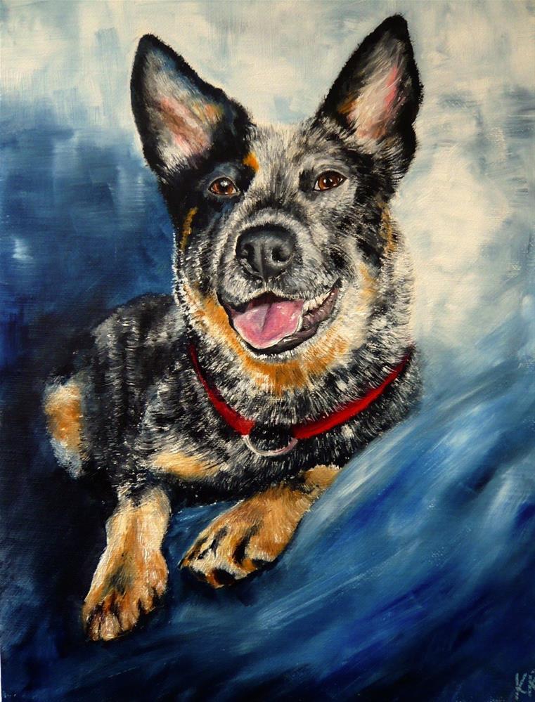 """""""Blue Heeler"""" original fine art by Karen Robinson"""