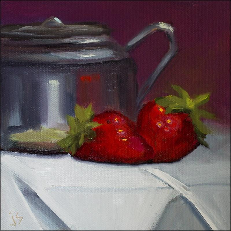 """""""Redheads for Tea"""" original fine art by Johnna Schelling"""