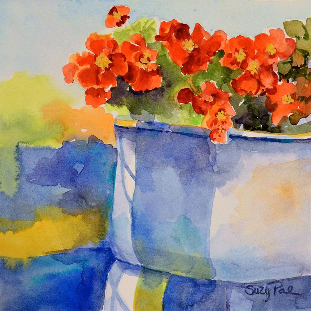 """My Porch Flowers"" original fine art by Suzy 'Pal' Powell"