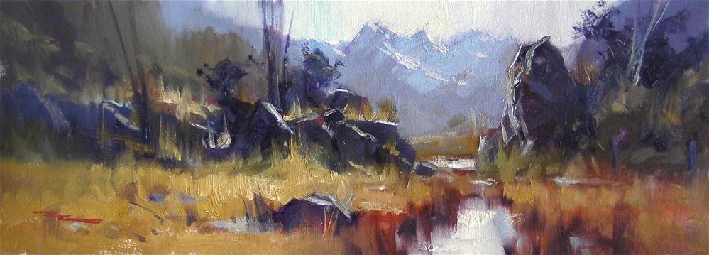 """Towards the Humboldt Range"" original fine art by Richard Robinson"