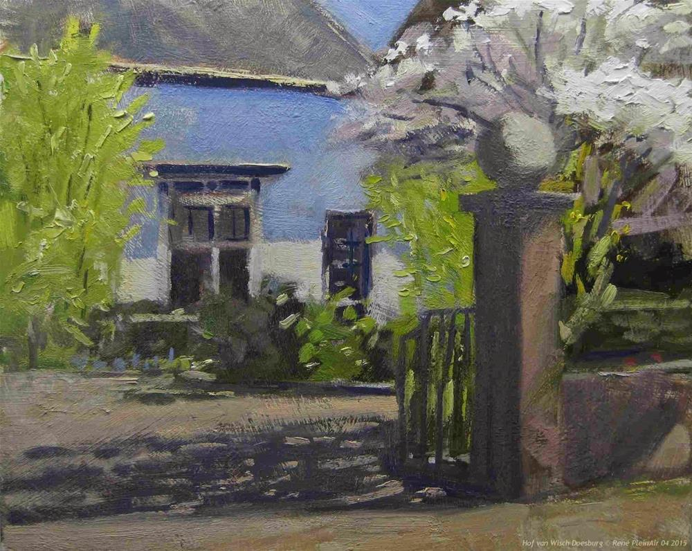 """Hof van Wisch. Doesburg, The Netherlands."" original fine art by René PleinAir"