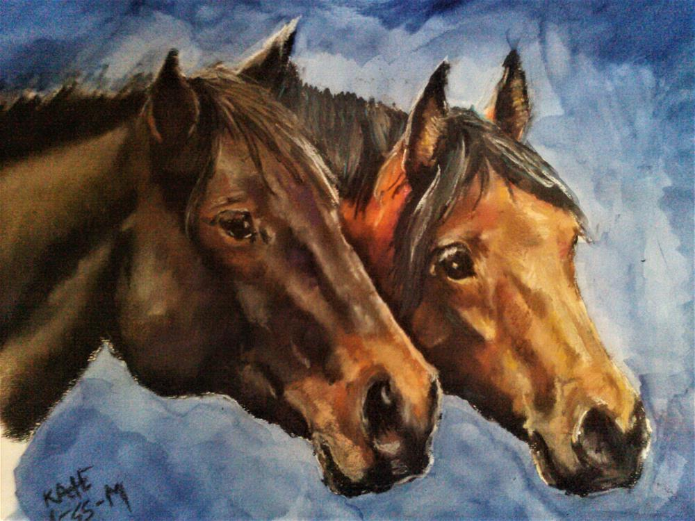 """Duo"" original fine art by Kate Less-Madsen"
