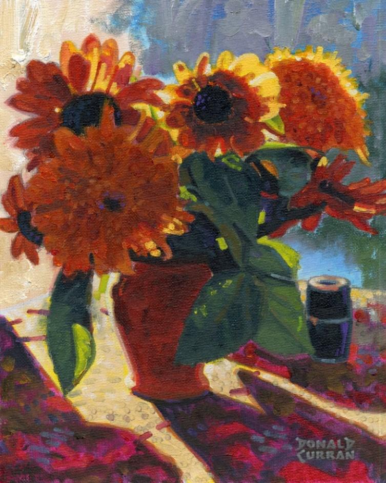 """Sunny Flowers"" original fine art by Donald Curran"