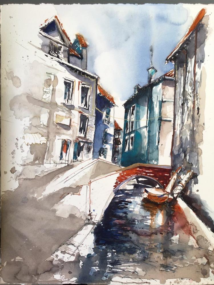 """2024 Canal Maddalena"" original fine art by Dietmar Stiller"