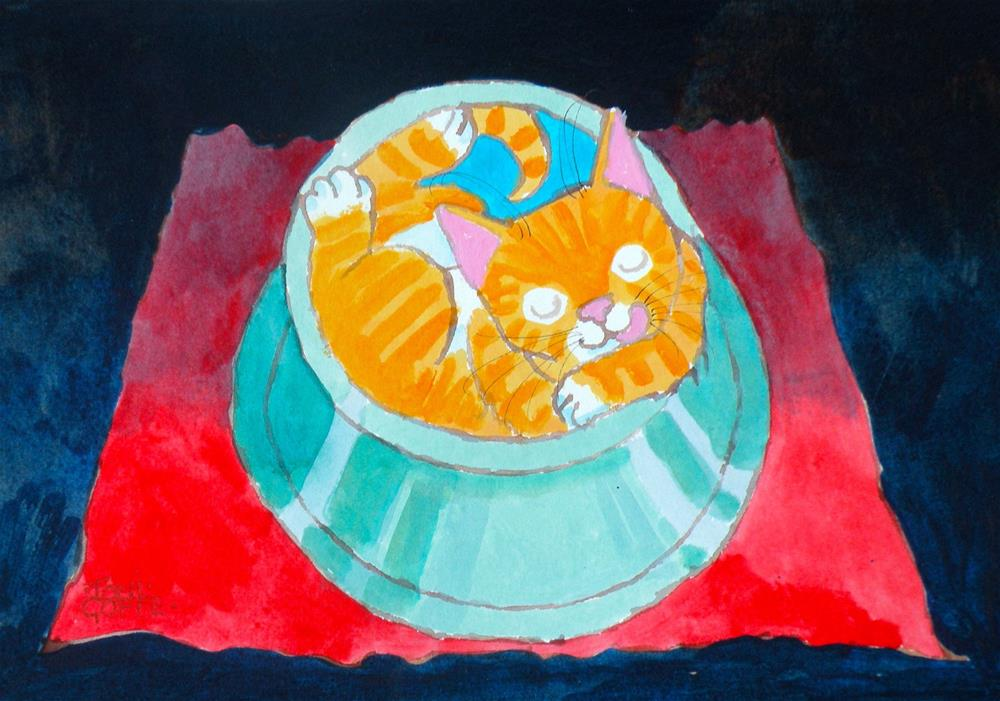 """""""After Lunch Nap"""" original fine art by Toni Goffe"""